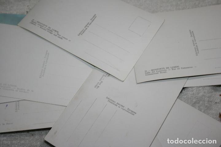 Postales: Lugo, lote de 10 postales coloreadas de Monforte de Lemos ediciones arribas. sin circular - Foto 5 - 118855775