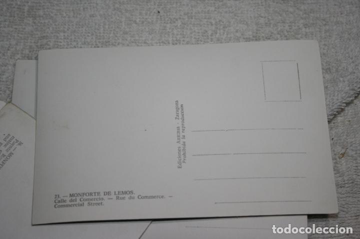 Postales: Lugo, lote de 10 postales coloreadas de Monforte de Lemos ediciones arribas. sin circular - Foto 6 - 118855775