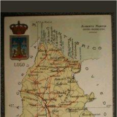 Postales: POSTAL MAPA DE LUGO. Lote 118866336