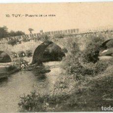 Postales: GALICIA. TUY (PONTEVEDRA). PUENTE DE LA VEGA.. Lote 118882543