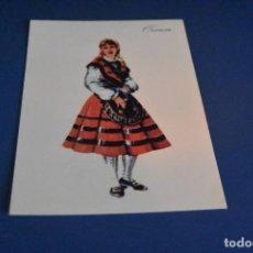 Postales: POSTAL PUBLICITARIA - DIBUJO TRAJE REGIONAL ORENSE - MEDICAMENTO PRONITOL. Lote 119053427