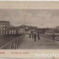 Postales: POSTAL ANTIGUA DE PONTEVEDRA. VILLAGARCIA. ENTRADA DEL MUELLE P-GA-1468. Lote 119076651