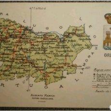 Postales: POSTAL MAPA DE ORENSE. Lote 119153227