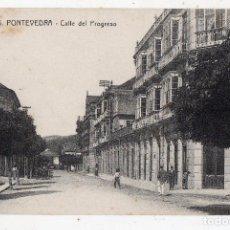 Postales: PONTEVEDRA. CALLE DEL PROGRESO.. Lote 119469903
