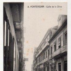 Postales: PONTEVEDRA. CALLE DE LA OLIVA. ANIMADA.. Lote 119470227