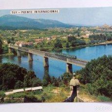 Cartoline: POSTAL - ESPAÑA - 3034 TUY PONTEVEDRA - PUENTE INTERNACIONAL DESDE PORTUGAL - TREN. Lote 119954775