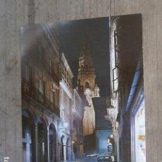 Postales: POSTAL SANTIAGO DE COMPOSTELA, RUA DEL VILLAR NOCTURNA. Lote 120213583