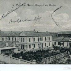 Postales: FERROL-NUEVO HOSPITAL DE LA MARINA-RARA. Lote 121087319