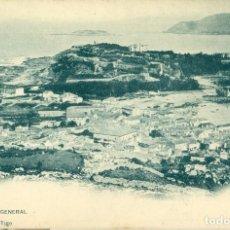 Cartoline: PONTEVEDRA BAYONA VISTA GENERAL. HACIA 1905.HAUSER Y MENET.. Lote 121383023