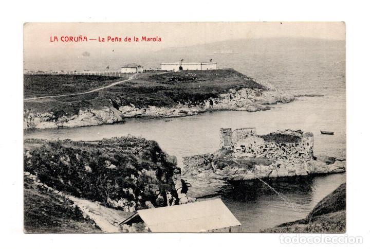 LA CORUÑA.- LA PEÑA DE LA MAROLA. (Postales - España - Galicia Antigua (hasta 1939))