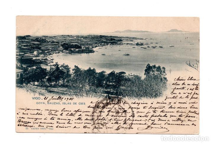 VIGO.- (PONTEVEDRA).- GOYA, BAUZAS, ISLAS CIES (Postales - España - Galicia Antigua (hasta 1939))
