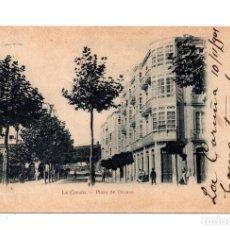 Postales: LA CORUÑA.- PLAZA DE ORENSE.. Lote 122147723
