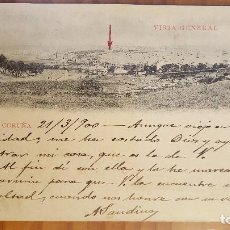 Postales: POSTAL CORUÑA VISTA GENERAL 1900 SELLO DEL PELON. Lote 122825407