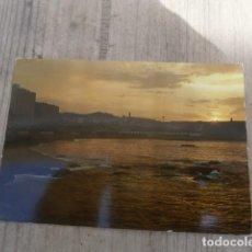 Postales: POSTAL LA CORUÑA, PLAZA DE RIAZOR, ATARDECER. Lote 122871055