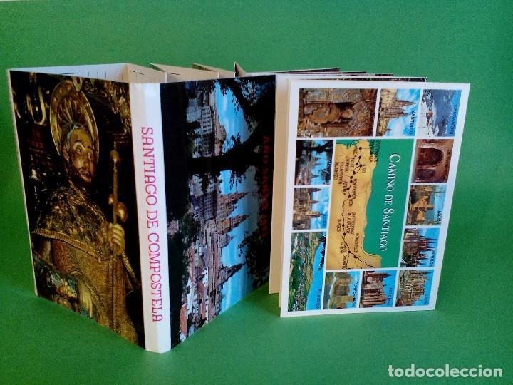 TARJETA POSTAL - SANTIAGO DE COMPOSTELA, AÑO SANTO 1993 - 20 FOTOS A COLOR - DESPLEGABLE EN ACORDEÓN (Postales - España - Galicia Antigua (hasta 1939))