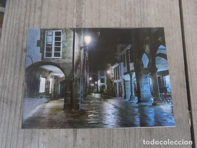 POSTAL SANTIAGO DE COMPOSTELA, RUA DEL VILLAR NOCTURNA (Postales - España - Galicia Moderna (desde 1940))