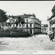 Postales: POSTAL ORENSE CALLE SAN MIGUEL Y LOS JARDINILLOS . L. ROISIN CA AÑO 1920-30 ??. Lote 124217887