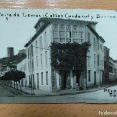 Postales: LUGO. MONFORTE DE LEMOS. CALLES DEL CARDENAL Y BAAMONDE. POSTAL FOTOGRÁFICA. Lote 124284295