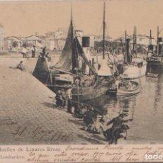Postales: LA CORUÑA - MUELLES DE LINARES RIVAS. Lote 125181195