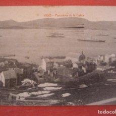 Postales: VIGO. PANORAMA DE LA BAHIA. ED. J. BUCETA. CIRCULADA . Lote 125377175