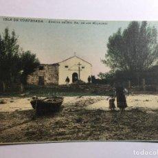 Postales: ISLA DE CORTEAGA ERMITA NUESTRA SEÑORA DE LOS MILAGROS AÑOS 20. Lote 125844295