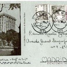 Postales: LA CORUÑA JARDINES DE MENDEZ NUÑEZ. ED. INDUSTRIAS GONZALEZ, SANTIAGO. CIRCULADA. Lote 125846567