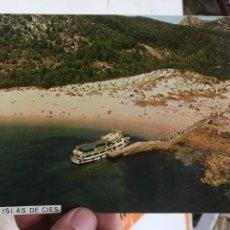 Postales: POSTAL ISLAS CIES RIA DE VIGO VISTA AEREA. Lote 125953067