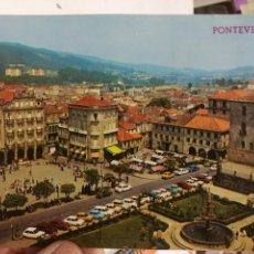 Postales: POSTAL PONTEVEDRA PLAZA DE ORENSE Y HERRERÍA. Lote 125954547
