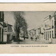 Postales: GUITIRIZ UNA VISTA DE LA AVENIDA PRINCIPAL GERARDO CASTRO ESCRITA EN 1953. Lote 126542535
