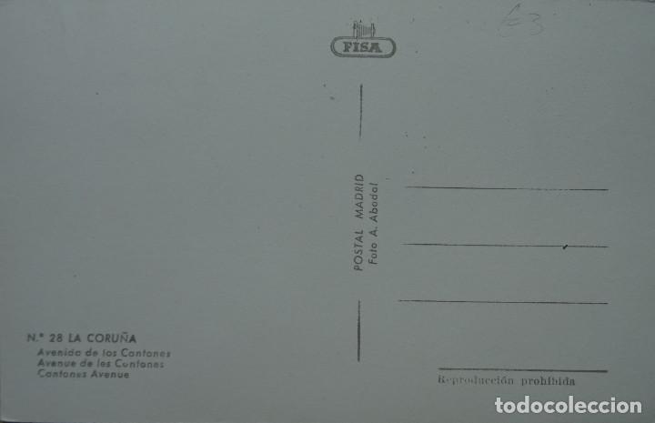 Postales: CORUÑA - AVENIDA DE LOS CANTONES - Foto 2 - 127254883