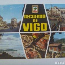 Postales: POSTAL DE VIGO : RECUERDO . AÑOS 60. Lote 128105903