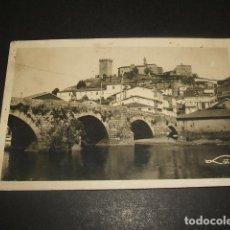 Postales: MONFORTE DE LEMOS LUGO VISTA PARCIAL Y PUENTE ROMANO SOBRE EL RIO CABE ED. LOTY. Lote 128317707