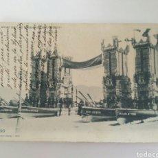 Postales: POSTAL DE VIGO CIRCULADA HACIA 1902, MUY RARA.. Lote 128456220