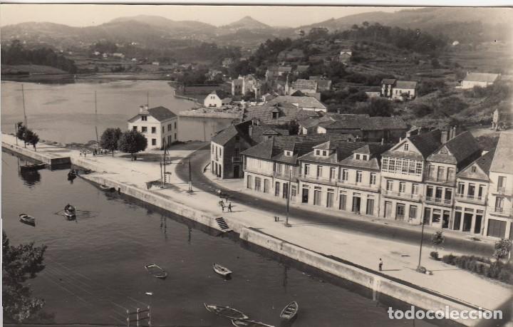 POSTAL FOTOGRAFICA RARA E IMPECABLE DE REDONDELA DE GALICIA RIA Y CARRETERA PLAYA - ALARDE (Postales - España - Galicia Antigua (hasta 1939))