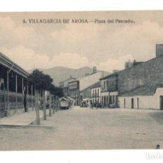 Postales: VILLAGARCIA DE AROSA.- PLAZA DEL PESCADO. Lote 130111251