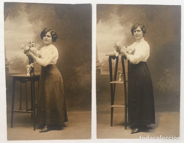 Lote 2 Tarajeta Postal Retrato Mujeres La Cor Comprar Postales