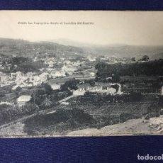 Postales: POSTAL VIGO LA CAMPIÑA DESDE CASTILLO DEL CASTRO E B TETILLA ESCRITA CIRCULADA. Lote 130157371