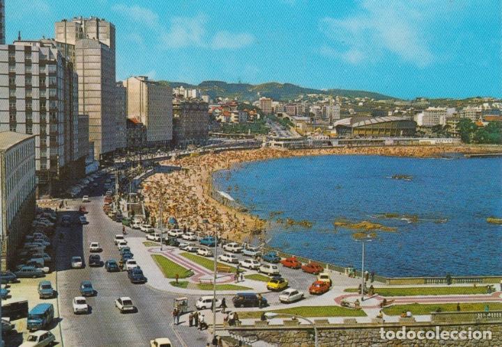 POSTAL A CORUÑA. PLAYA DE RIAZOR. EDICIONES ARRIBAS. ZARAGOZA (Postales - España - Galicia Moderna (desde 1940))