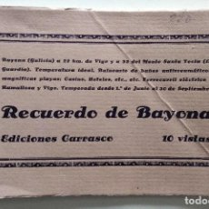Postales: RECUERDO DE BAYONA (GALICIA) - EDICIONES CARRASCO - 10 VISTAS. Lote 130492410
