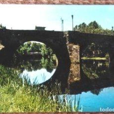 Postales: MONFORTE DE LEMOS - PUENTE ROMANO. Lote 130543414