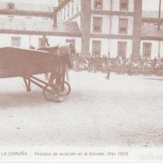 Postales: POSTAL A CORUÑA. FESTEJOS DE AVIACIÓN EN LA ESTRADA. AÑO 1929. LIBRERÍA ARENAS. A CORUÑA. Lote 130914276