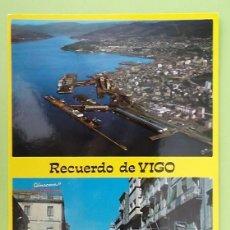 Postales: VIGO. 48 VISTA AÉREA Y CALLE DEL PRÍNCIPE. ED. ALARDE. NUEVA. COLOR. Lote 130919928