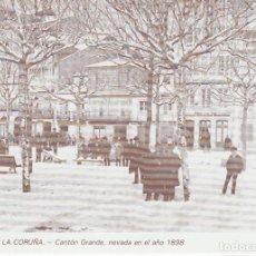 Postales: POSTAL A CORUÑA. CANTÓN GRANDE, NEVADA EN EL AÑO 1898. LIBRERÍA ARENAS. A CORUÑA. Lote 131023980