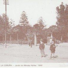 Postales: POSTAL A CORUÑA. JARDÍN DE MÉNDEZ NÚÑEZ. 1900. LIBRERÍA ARENAS. A CORUÑA. Lote 131024016