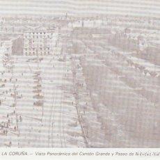 Postales: POSTAL A CORUÑA. VISTA PANORÁMICA DEL CANTÓN GRANDE. 1930. LIBRERÍA ARENAS. A CORUÑA. Lote 131024064