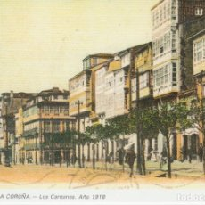 Postales: POSTAL A CORUÑA. LOS CANTONES. AÑO 1918. LIBRERÍA ARENAS. A CORUÑA. Lote 131024320