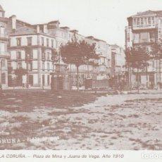 Postales: POSTAL A CORUÑA. PLAZA DE MINA Y JUANA DE VEGA. AÑO 1910. LIBRERÍA ARENAS. A CORUÑA. Lote 131024360