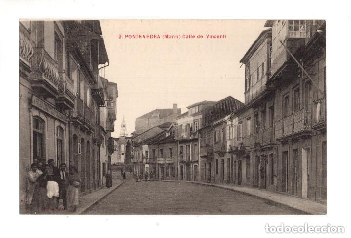MARIN - PONTEVEDRA.- CALLE DE VICENTI (Postales - España - Galicia Antigua (hasta 1939))