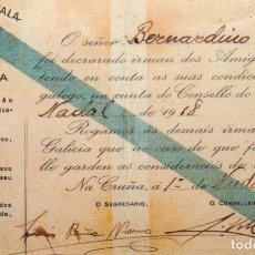 Cartes Postales: POSTAL CONMEMORATIVA 100º ANIVERSARIO IRMANDADES DA FALA. CARNE IRMANDADE DA FALA DA CORUÑA. Lote 234837885