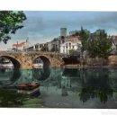 Postales: MONFORTE DE LEMOS.(LUGO9.- PUENTE ROMANO Y CASTILLO - ED. ARRIBAS.. Lote 132332642